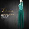2016 Golden Wholesale Popular Mid Sleeves Applique Evening Dress for Seniors