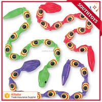 Assorted Color Jointed Wiggly Plastic Snakes 36-pak