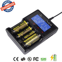 XTAR VC4 Battery charger with LCD screen 0.1A to 1.0A and max up to 0.5A*4 / 1.0A*2 for Li-ion Ni-MH/Ni-CD batteries Charger