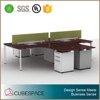 2016 Modern American Style Office Furniture Metal Frame Workstation For 2 people