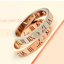Wholesale Fashion Delicate Gold Plated Roman Numerals Rings