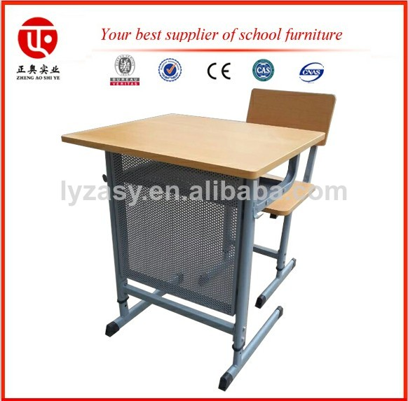 best price expanded metal metal school desk and chair luoyang