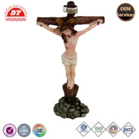 custom made jesus on the cross figurines for indoor decorative