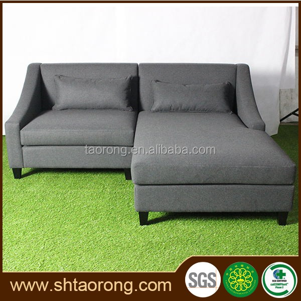China furniture factory gray leather sofa bed