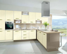 3d effect PVC new model kitchen cabinet