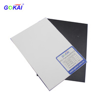 0.5MM-1.5MM Black and White Double Sides Self-adhesive Rigid PVC Foam Sheet for Photo Album Book Pages