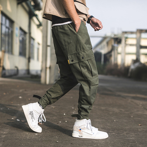 Elastic Casual Wearing 6 Pockets Camouflage Cargo Pants for Men