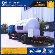 Best quality newly design dongfeng natural gas and LPG tank 4x2 lpg refuel truck install gas scale