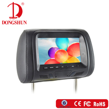 "7"" Car Universal Headrest Monitor with two video input/Built in USB port ,SD slot"