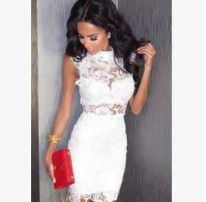 Woman fancy mini dresses western fashion bandage lady new sexy lace dresses