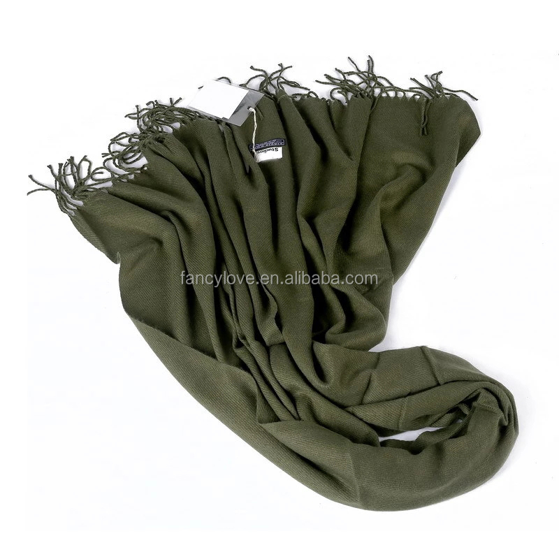 70*180cm solid color cheap price silk feeling scarf factory cashmere scarf