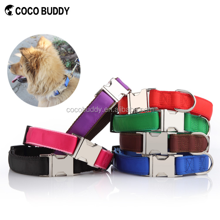 2016 China wholesale customized nylon dog collar pet accessories nylon collar
