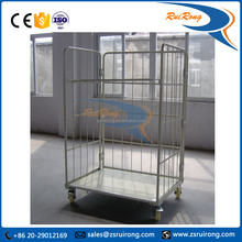 warehouse steel roll cage trolley foldable trolley cart roll container