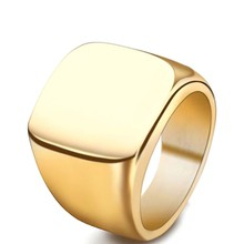 Latest New Design Blank Simple Casting Titanium Gold PVD Men'S Finger O Ring Jewelry