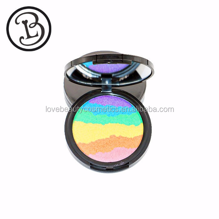 Multi colored private label highlighter makeup
