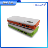 Real Capacity Outdoor Emergent mobile phone rechargeable power bank battery backup
