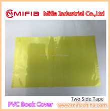manufacturer plain yellow clear adhesive pvc plastic book covering