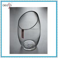 Unique Shape Clear Glass Flower Vase Glass For Decorage