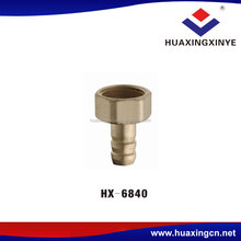Cheapest sales wholesale quick conversion plug HX-6840 flexible pipe fittings union connector brass joint connector