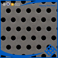 Decorative perforated plastic sheet metal panels