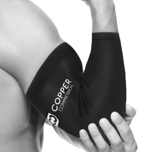Compression Recovery Elbow Sleeve Highest Copper Content Elbow Brace Support