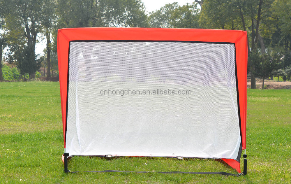Fiber glass pole square training soccer goal