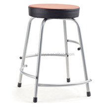 High quality colorful school chair stool /round seat study chair Steel Stool