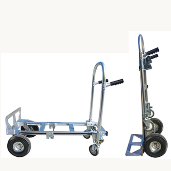 Popular heavy aluminum industrial 2 in 1 storage hand trolley stair climbing trolley	/hand truck for sale
