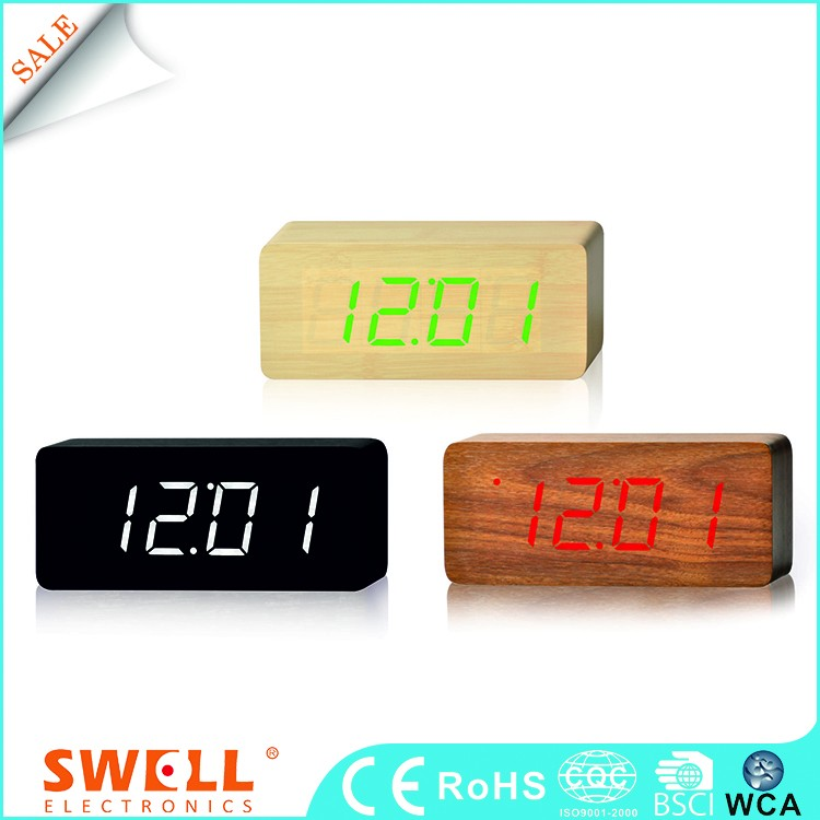 red led light stand digital clock