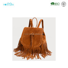 photo leather women fringe backpack