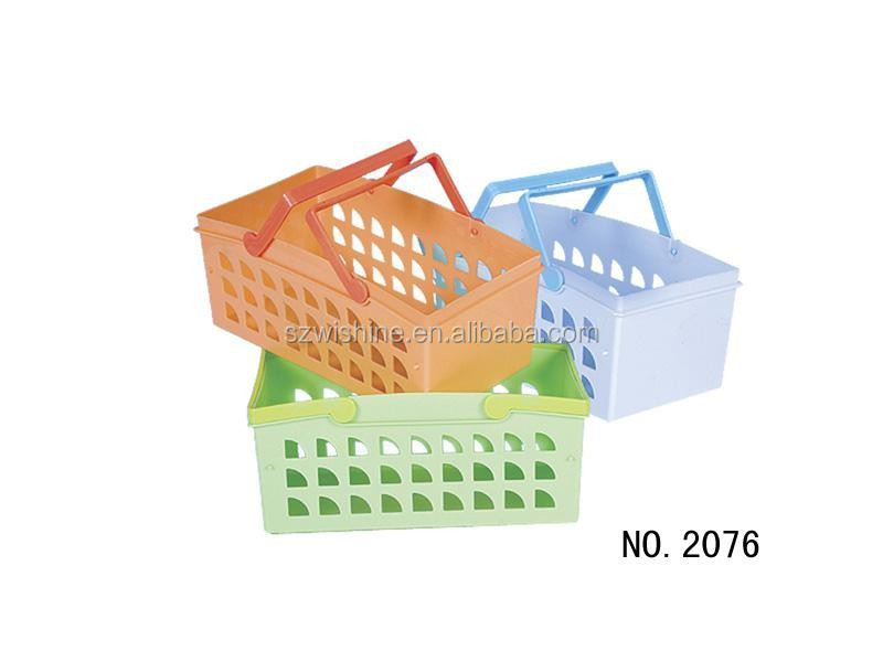 high quality cheap price small plastic hanging baskets/organization baskets/plastic baskets with hole