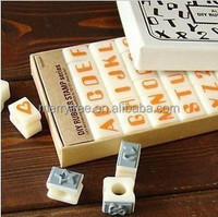 Korea stationery 36pcs/set Lace digital letter stamp acrylic stamp diystamp-ALIENEYE, lace stamp, DIY Rubber stamp