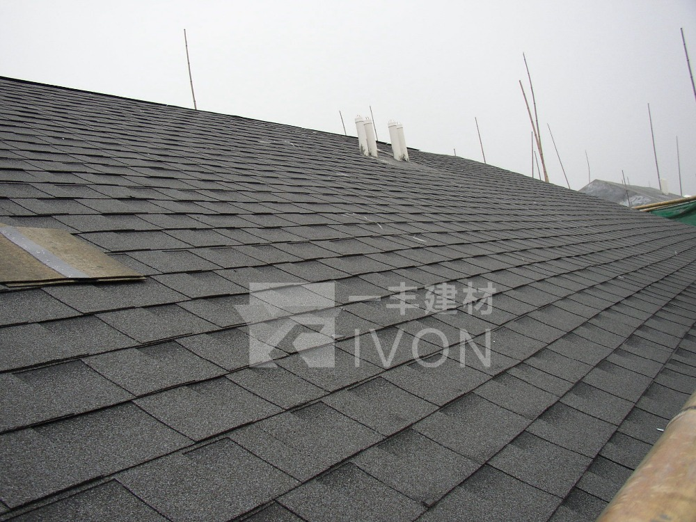 IVON cheap mosaic roof tile ,asphalt shingles price bitumen roof