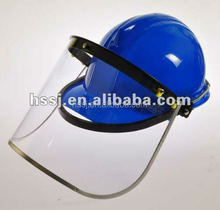 2016 hot selling face shield safety PC/PVC plastic face shield visor matched helmet with CE standard face shield manufacturer