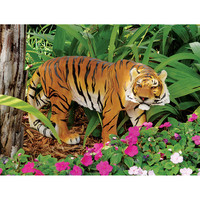 2016 realistic fiberglass animals animatronic tiger for sale