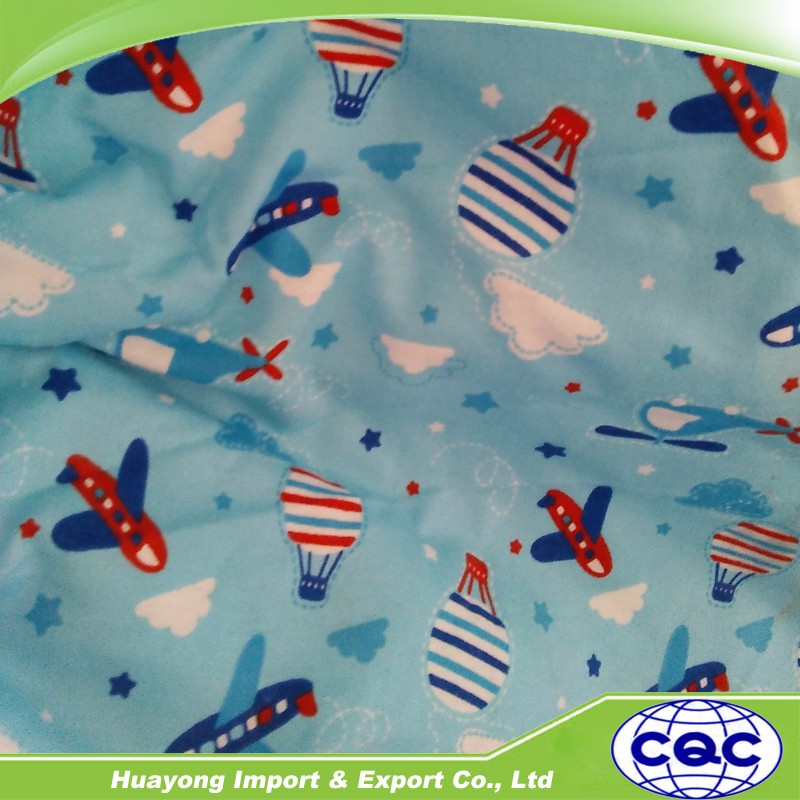 China factory cotton print flannel fabric blanket cotton for Children s clothing fabric by the yard