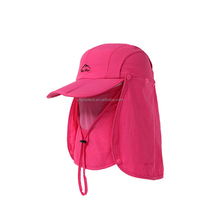 Woman Men Outdoor Big Wide Brim Face Sun Hat Neck Cover UV Protection Removable 360 Degree Protection Summer Cap