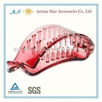 pink plastic hair bows with teeth/Artstar fashion hair accessories