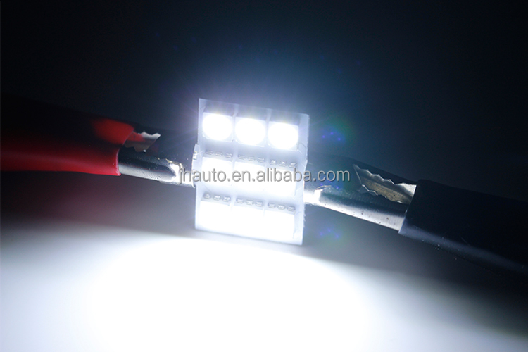 High quality 12V 9 SMD 5050 LED Dome Ligth 36mm Automobile Festoon Car Lights Lamp Bulbs