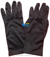 100% Black Stretch Polyester Parade cotton Work Glove