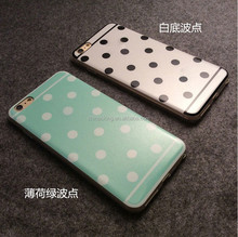 Top Quality Sweet Candy Colors Polka Dot Soft TPU Back Cover Case phone Cases for iphone 6 plus /6 s plus Protective Case