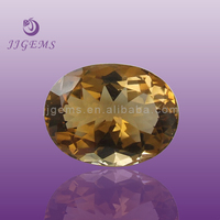 Synthetic champagne oval cubic zirconia iranian gemstones