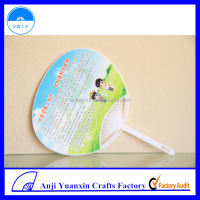 Plastic Advertising Fans Promotional Car Giveaway