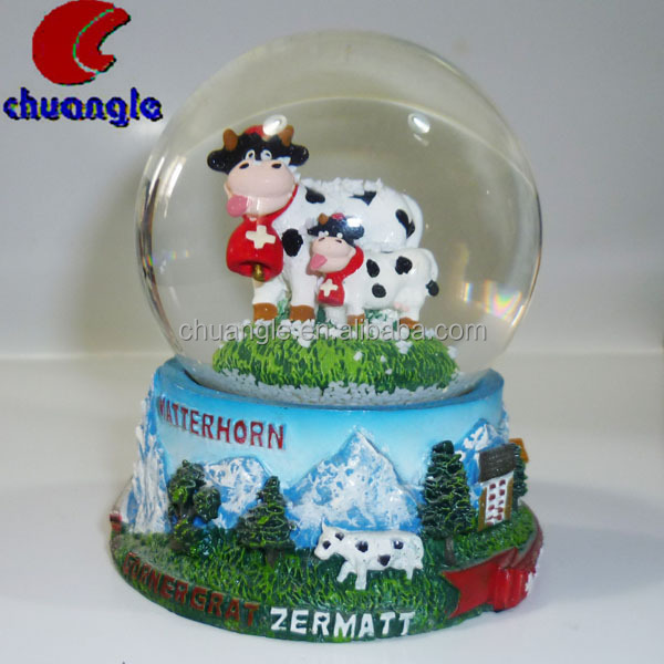 Promotional souvenir Acrylic photo Snow Globe with glitter float, snow ball with Photo picture Frame insert snow dome water ball