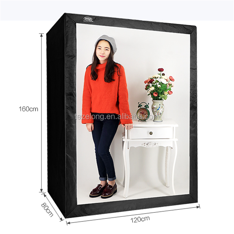 Deep Led Profesional portable softbox 120*80*160 cm LED foto estudio Luz de vídeo tienda con LED Luz