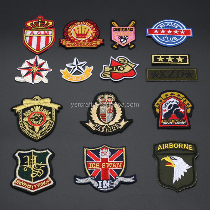 Cloth badge embroidery emblem custom logo or stock