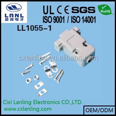 plastic hood for DB connector grey color