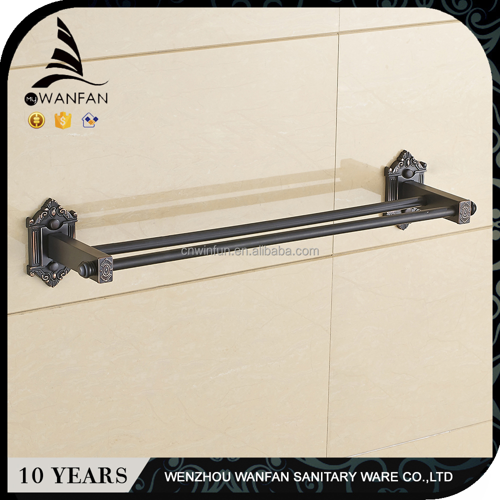 Black Bathroom Accessories Towel Bar Double Rerto Classic Towel Rack/Holder/Bar Oil Rubbed Bronze