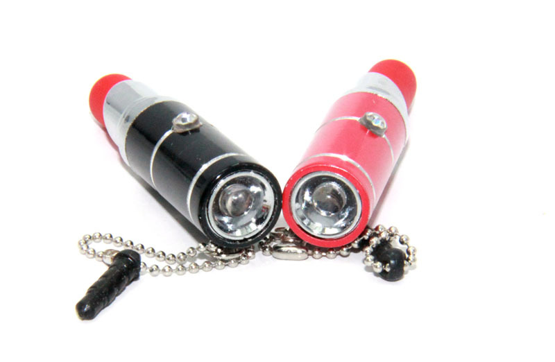Screen Touch Pen with LED Light in Lipstick Shape