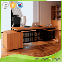 High Quality Latest MDF Wooden Executive L Shaped Office Counter Table Office Furniture Design